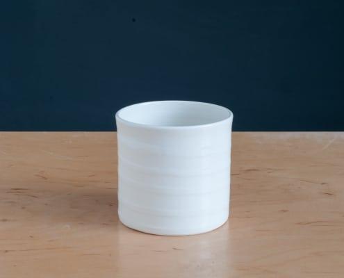 Porzellan-Becher-Textpoterie-handgemacht-stripes-Streifen